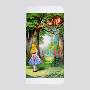 Alice and the Cheshire Cat Beach Towel