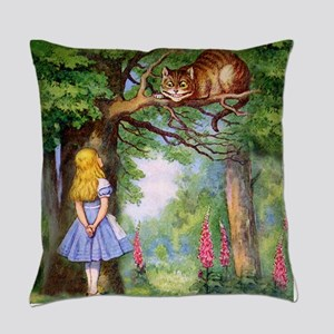 Alice and the Cheshire Cat Everyday Pillow