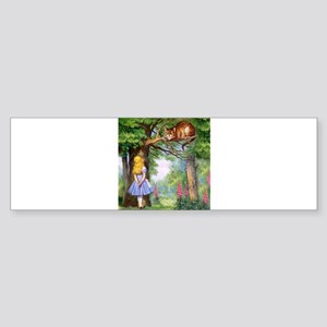 Alice and the Cheshire Cat Sticker (Bumper 10 pk)