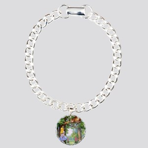Alice and the Cheshire C Charm Bracelet, One Charm