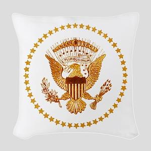 Presidential Seal, The White H Woven Throw Pillow