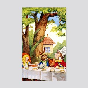 Mad Hatter's Tea Party Sticker (Rectangle)