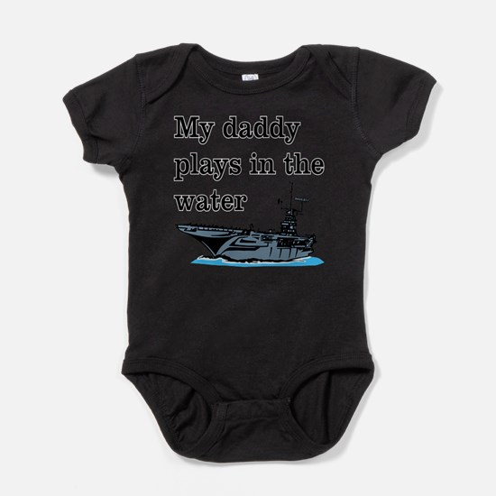 DADDY PLAYS IN THE WATER 1 Baby Bodysuit