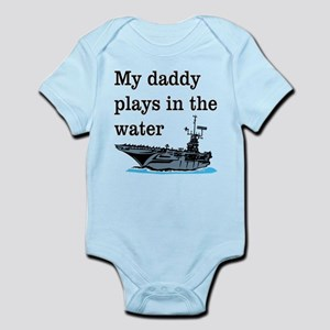 DADDY PLAYS IN THE WATER 1 Body Suit