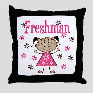Freshman Girl Throw Pillow