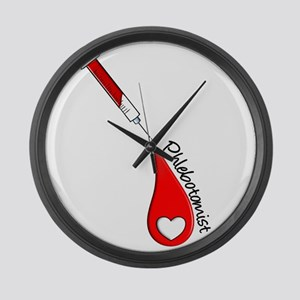Phlebotomist Large Wall Clock