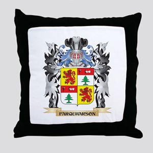 Farquharson Coat of Arms - Family Cre Throw Pillow