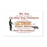 Herding Eye Mini Poster Print