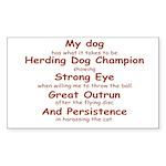 Herding Eye Rectangle Sticker