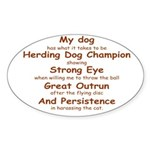 Herding Eye Oval Sticker