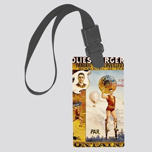 Folies Bergere Fontaine Vintage  Large Luggage Tag