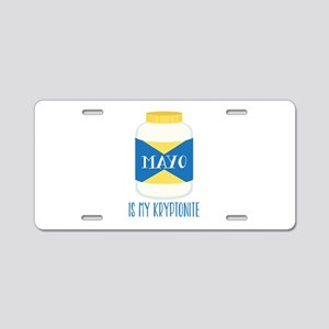 Mayo Kryptonite Aluminum License Plate