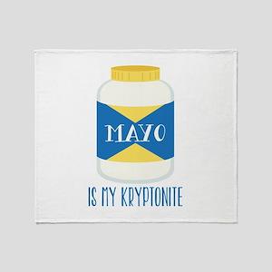 Mayo Kryptonite Throw Blanket