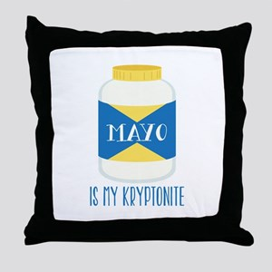 Mayo Kryptonite Throw Pillow