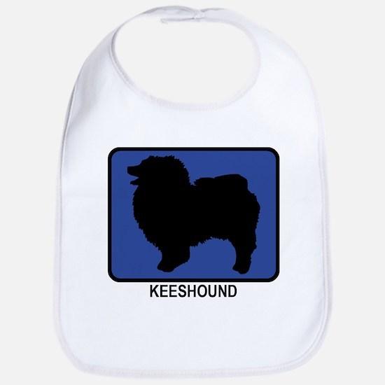 Keeshound (blue) Bib
