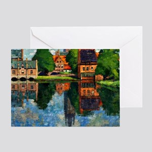 Lac d'Amour , fine art painting Greeting Card