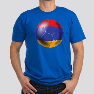 Armenia Soccer Ball Men's Fitted T-Shirt (dark)