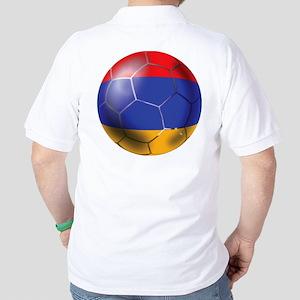 Armenia Soccer Ball Golf Shirt