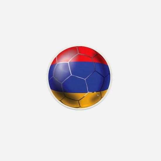 Armenia Soccer Ball Mini Button