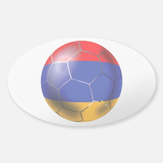 Armenia Soccer Ball Sticker (Oval)