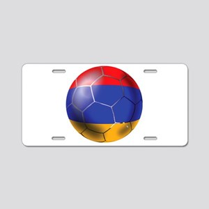 Armenia Soccer Ball Aluminum License Plate