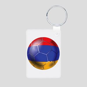 Armenia Soccer Ball Aluminum Photo Keychain