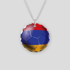 Armenia Soccer Ball Necklace Circle Charm
