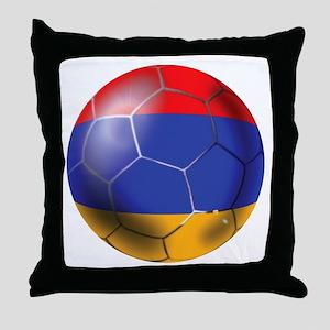 Armenia Soccer Ball Throw Pillow