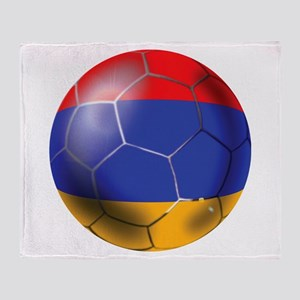 Armenia Soccer Ball Throw Blanket