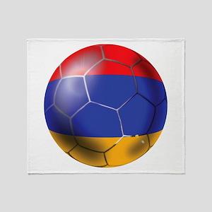 Armenia Soccer Ball Throw Blanket