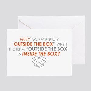 Outside The Box House Of Lies Greeting Cards
