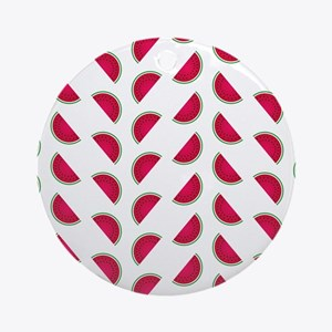 Rows of Watermelon Slices Ornament (Round)