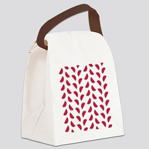 Rows of Watermelon Slices Canvas Lunch Bag