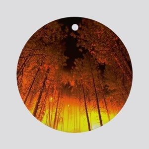 Forest Fire Ornament (Round)