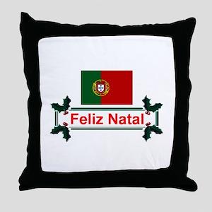 Portugal Feliz Natal Throw Pillow