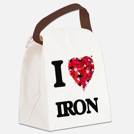 I Love Iron Canvas Lunch Bag