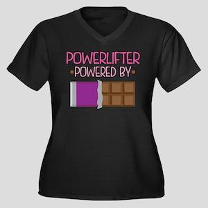 Powerlifter Women's Plus Size V-Neck Dark T-Shirt