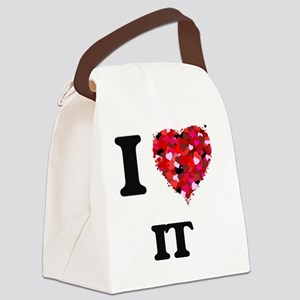 I Love It Canvas Lunch Bag