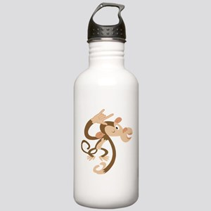 ASL I Love You Monkey Stainless Water Bottle 1.0L
