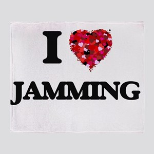 I Love Jamming Throw Blanket