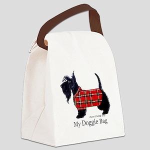 scottie doggie Canvas Lunch Bag