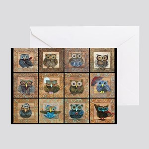 The Owls Greeting Cards (pk Of 10)