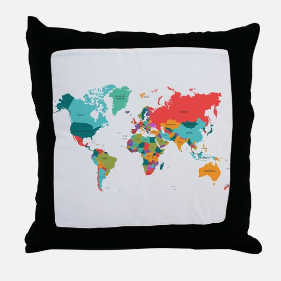 World Map With the Name of The Countries Throw Pil