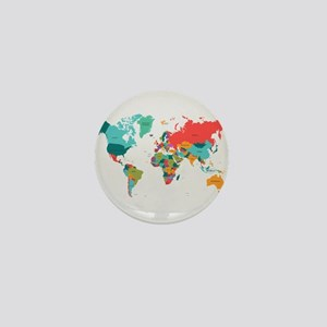 World Map With the Name of The Countries Mini Butt