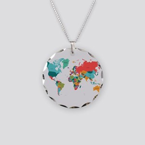 World Map With the Name of The Countries Necklace