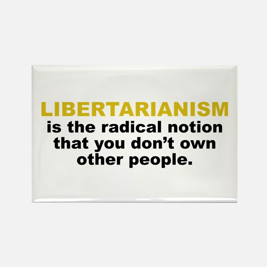 Libertarian Rectangle Magnet