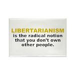 Libertarian Rectangle Magnet (10 pack)