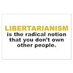 Libertarian Large Poster