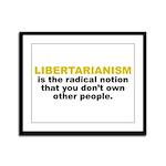 Libertarian Framed Panel Print