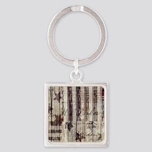grunge USA flag Square Keychain